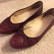 Chanel Burgundy Calfskin Ballerina Flats Photo