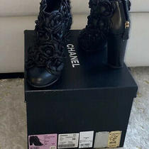 Chanel Camellia Flower Booties Photo