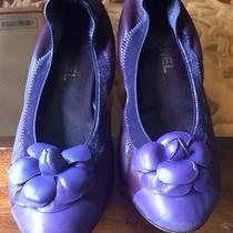 Chanel Camellia Purple Flats  Photo