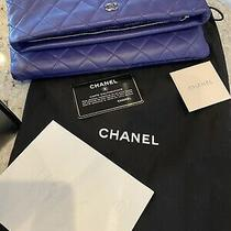 Chanel Caviar Clutch Rare Color Blue/purple. Photo