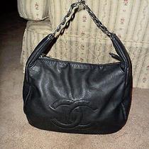 Chanel Cc Chain Glazed Caviar Leather Tote Bag Photo