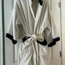 Chanel Cc Logo Bathrobe Bath Robe White Black Authentic Euc Onesize Photo