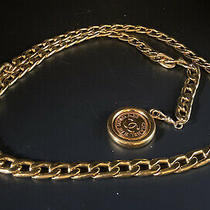 Chanel Chain Belt Gold Plated Cc Logo Coin Charm 37.5