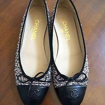 Chanel Classic Ballet Flats in Rose Tweed - Size 38 37.5 7.5 Authentic Like New Photo