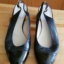 Chanel Classic Black Leather Slingback Pumps/shoes (Size Eu 37/us 7) Photo