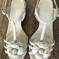 Chanel Classic Cameo Lambskin Sandals Let Green Size 38 Photo