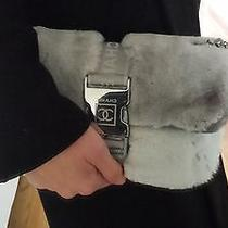 Chanel Classic Flip Bag Gray Rabbit Fur Photo