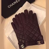 Chanel Classic Plum Gloves Authentic 100% Photo