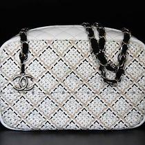 Chanel Classic White Patent Camera Bag Purse Handbag New Medium Large Photo