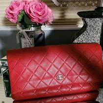 Chanel Clutch Bag Red Lambkin Rare Color  Photo