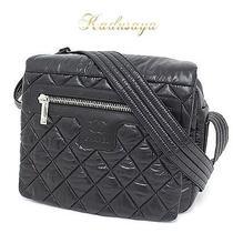 Chanel Coco Cocoon Nylon Shoulder Bag Black Rare Used Photo