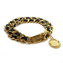 Chanel Coco Coin Chain Belt Gold Metal X Leather 10060809 Photo