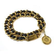 Chanel Coco Coin Chain Belt Gold X Black 10060650 Photo