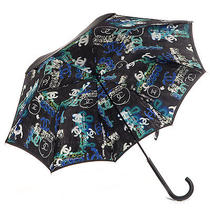 Chanel Coco Mademoiselle Cc Logo Graffiti Street Art Umbrella Brolly Blue Black Photo