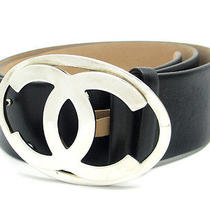 Chanel Coco Mark Buckle Belt Made in 2000 A28530 (Dh33422)  Photo