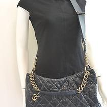 Chanel Coco Pleats Hobo Navy Blue Worn Once Stunning Gorgeous 3800 Retail  Photo
