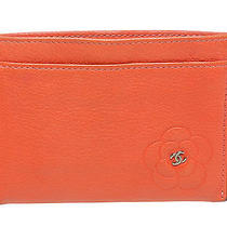 Chanel Coral Lambskin Camelia Card Holder Photo