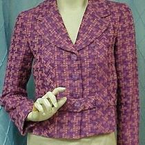 Chanel Designer Purple Blend Woven Jacket/blazer/coat/sweater sz.38 Fr. Small Photo