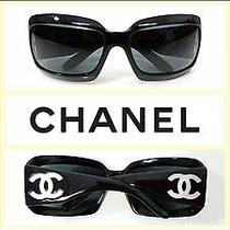 Chanel Designer Sunglasses- Mother of Pearl- Style 5076-H Color 501/87 - Black Photo