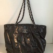 Chanel Distressed Leather Caviar Leather Tote Purse Photo