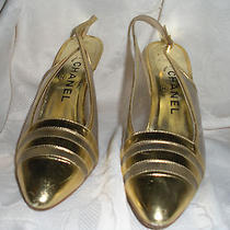 Chanel Gold and Clear Shoe Photo