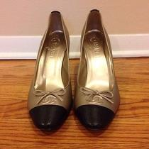 Chanel Gold Metallic Pumps Photo