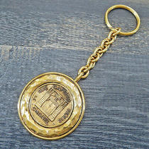 Chanel Gold Plated Cc Logos Cambon Vintage Keychain Key Ring 6540a Rise-On Photo