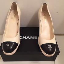 Chanel Gorgeous Black & Off White Espadrilles Photo