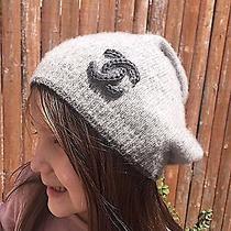 Chanel Grey Cashmere Beanie Hat Photo