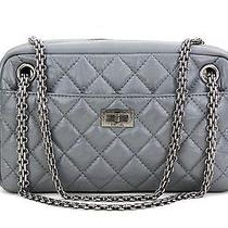 Chanel Grey Quilted Leather Reissue Small Camera Bag Photo