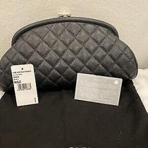Chanel Half Moon Clutch Cavier Black With Shw Photo