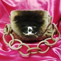 Chanel Handbag Lambskin Leather and Rabbit Fur Must See Photo