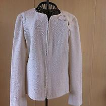 Chanel Heart & 4-Leaf Clover Jacket--Size 42--White Photo