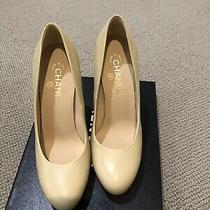 Chanel Heels Size 40.5 Beige Pumps Photo