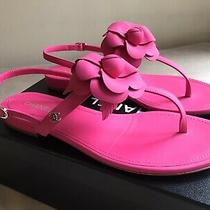 Chanel Hot Pink Camilla Thong Sandals Flats 38.5 Photo