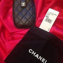 Chanel Iphone Black Leather Holder Photo