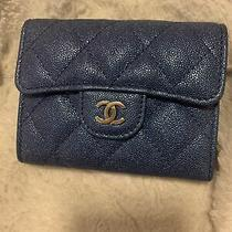 Chanel Iridescent Blue Xl Cardholder Wallet Photo