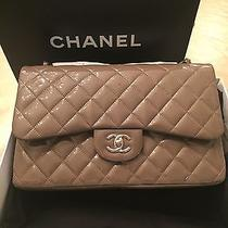 Chanel Jumbo Handbag Blush Grey New With Tags Photo