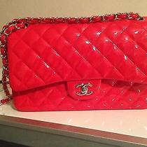 Chanel Jumbo Red Patent Photo