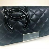 Chanel Kanbonrain Two-Fold Wallet Blackfluorescent Pink Yc-216 (Mak144 Photo