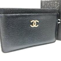Chanel Kokomaku Card Case Path Case Black Ys-241 (Mak146 Photo