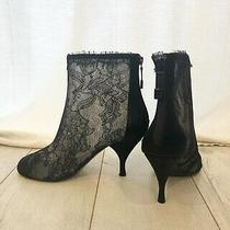 Chanel Lace Booties Size 38 Photo