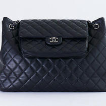 Chanel Lamb Skin Large Tote Shoulder Bag in Black   Photo