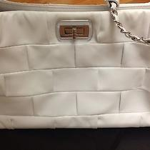Chanel Lambskin Quilted Leather White Bag Tote 3200 Jumbo Gift Photo