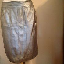 Chanel Leather Skirt - Metallic Silver Photo