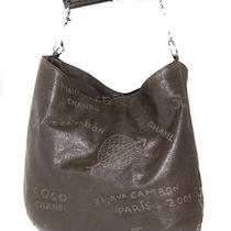 Chanel Limited Edition Calfskin Graffiti Mademoiselle Hobo Bag Photo