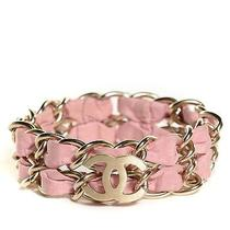 Chanel Metal Cc Chain Bracelet Pink Photo
