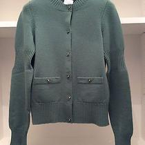 Chanel Mint Like Brand New 100% Cashmere Iconic Sweater Photo