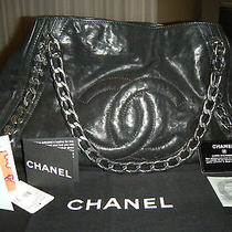 Chanel Modern Chain Large  Black Tote Handbag Photo
