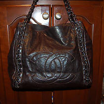 Chanel Modern Chain Tote- Rare Medium Size- Chocolate- Mint Condition Photo